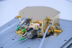 The LPF laser modulator unit. The input light from the laser is fibre coupled in