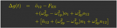 LPF x-axis force equation