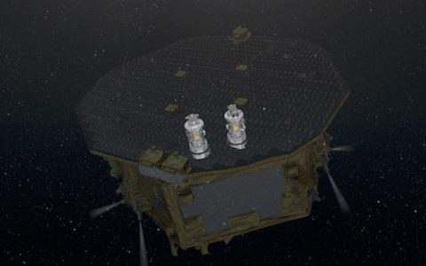 Lisa Pathfinder operating in space