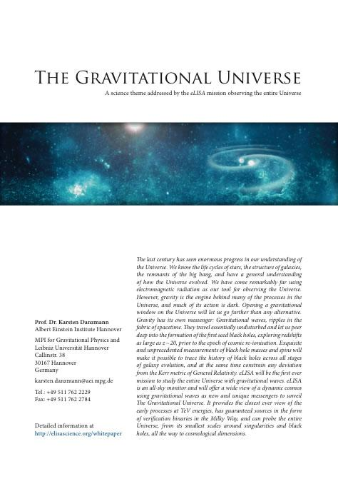 Multimedia White Paper Pdf  Lisa Gravitational Wave Observatory
