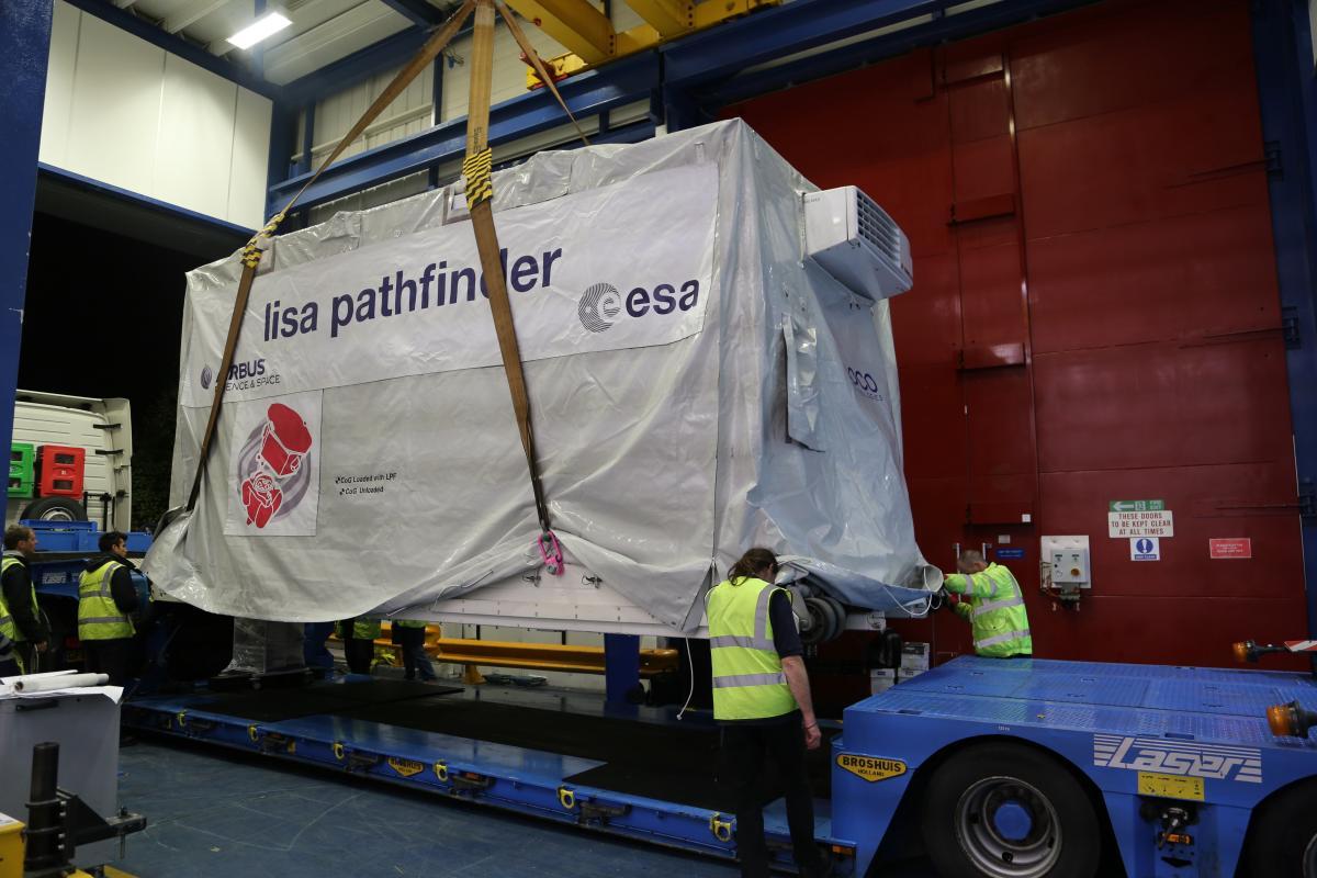 LISA Pathfinder leaving Airbus Defence Space
