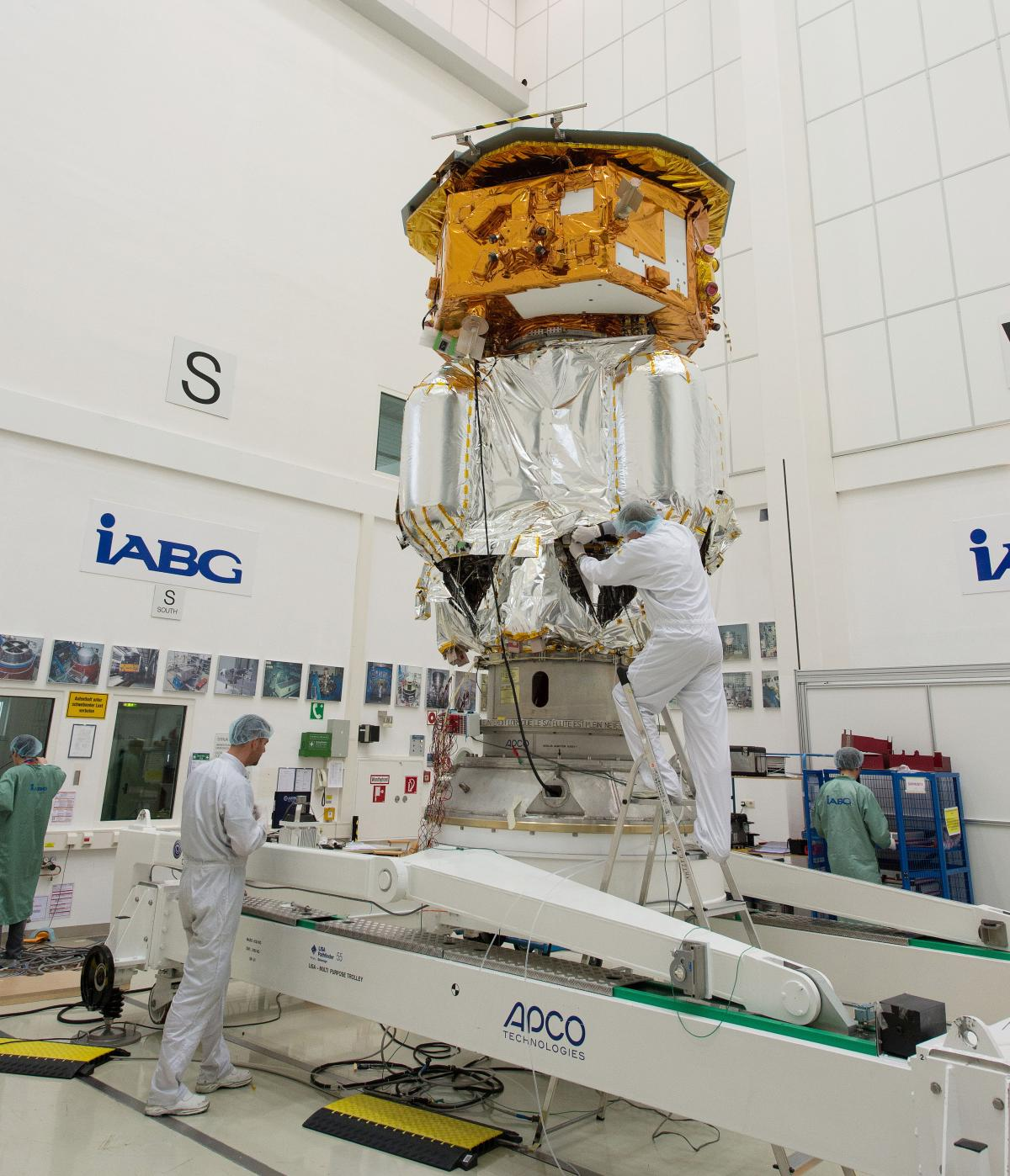 LISA Pathfinder in acoustic test facility in August 2015