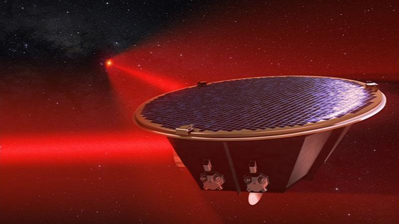 LISA - spacecraft with two laser arms