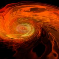Two neutron stars merge to form a black hole