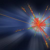 Collision event in CERN's ATLAS detector